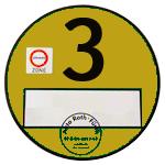 żółtą plakietkę